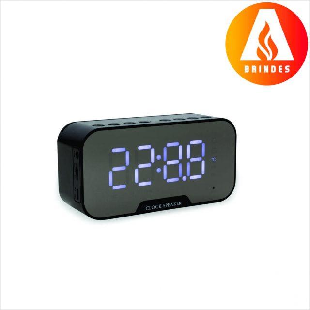 Caixa de Som Multimídia com Relógio Personalizado