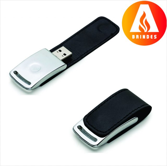 Pen Couro New 4GB Promocional