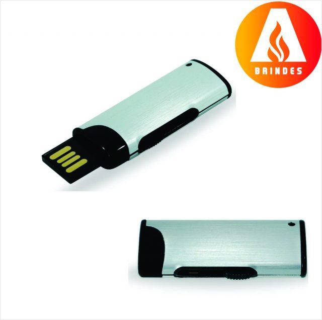Pen Drive Retrátil Promocional 4GB