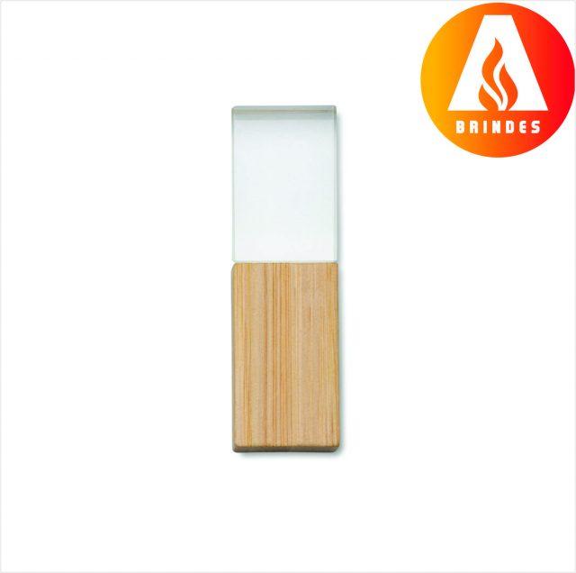 Pen Drive Cristal Bambu para Brindes