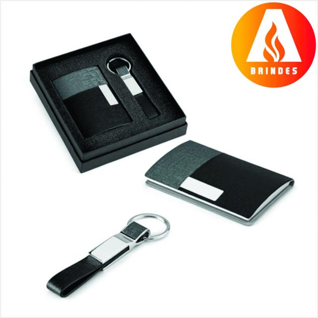 Kit Porta Cartão e Chaveiro Personalizado