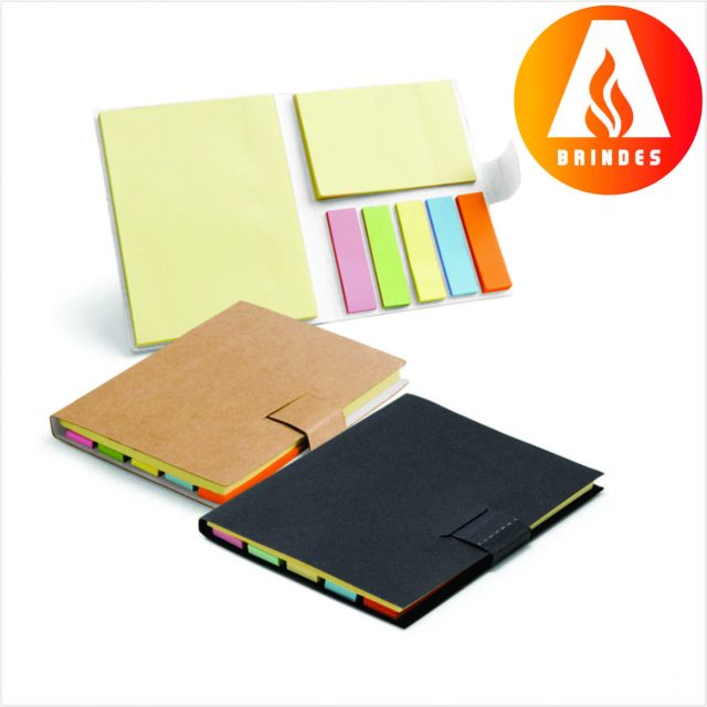 Caderno Ecológico com Post it Promocional
