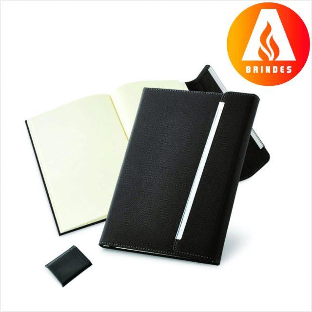 Caderno com Fecho Magnético Promocional