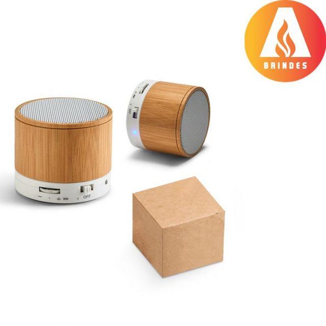 Caixa de som de bambu personalizada