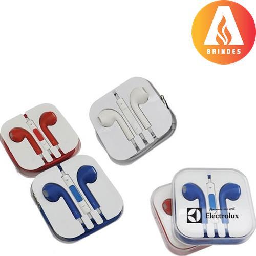 Fone de ouvido personalizado com caixinha plástica