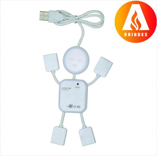 Hub Boneco com 4 Entradas USB Personalizado