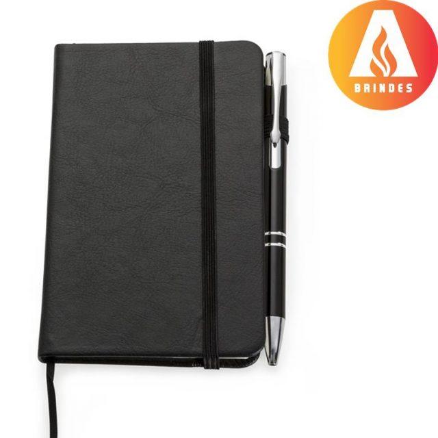 Kit caderneta moleskine com caneta