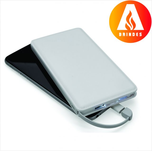 Power Bank Slim com Níveis Promocional