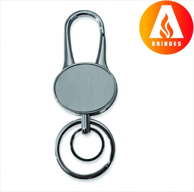 Chaveiro Metal Oval para Brindes