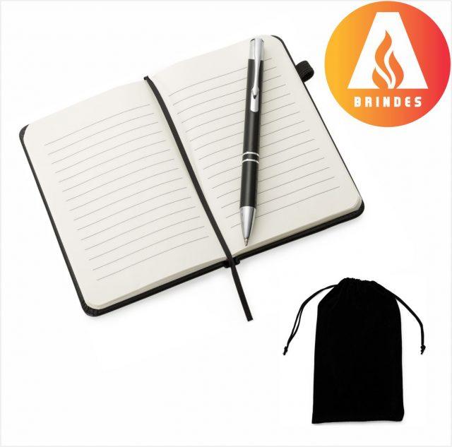 Kit Caderneta e Caneta Promocional