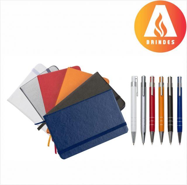 Conjunto Caneta e Caderneta Promocional